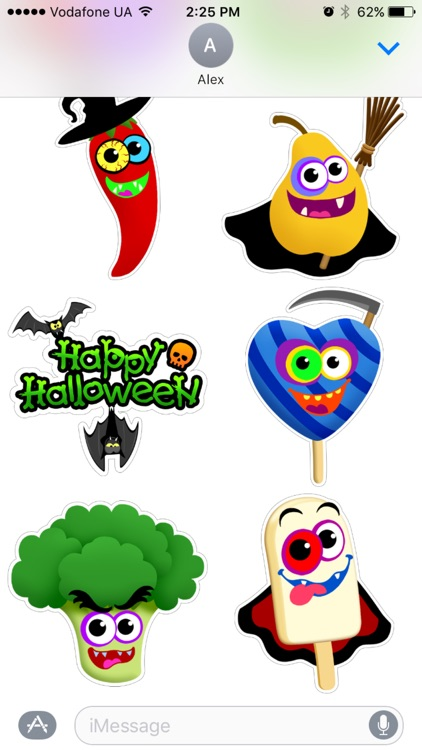 Funny Foods Halloween sticker pack free