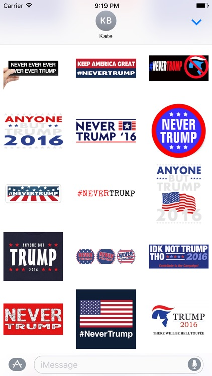 Never Donald Trump for President 2016 Stickers screenshot-2