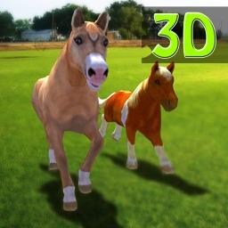 Pony Horses Green Hill Climb Simulator