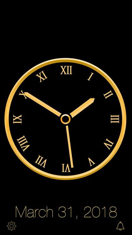 Gold Luxury Clock screenshot-6