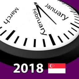 2018 Singapore Calendar