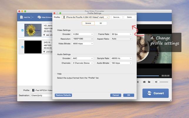 Free Video-Converter Screenshot