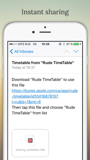 Rude TimeTable Screenshot