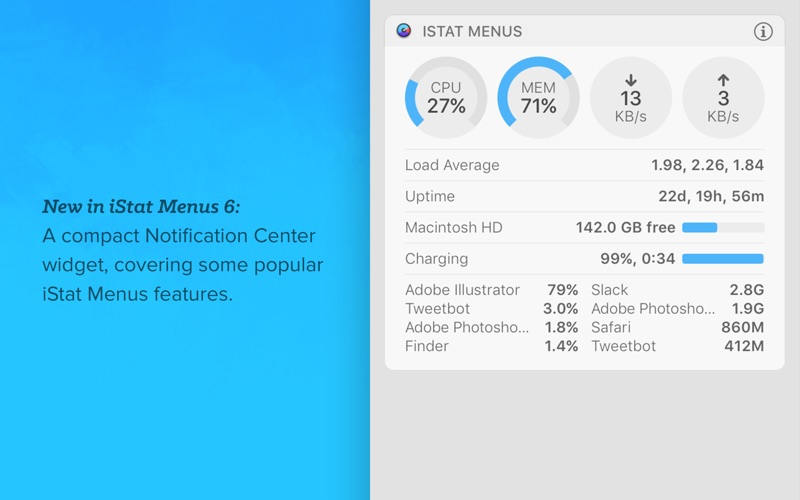 iStat Menus Screenshots