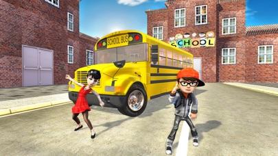 Crazy School Bus Transport Sim screenshot one