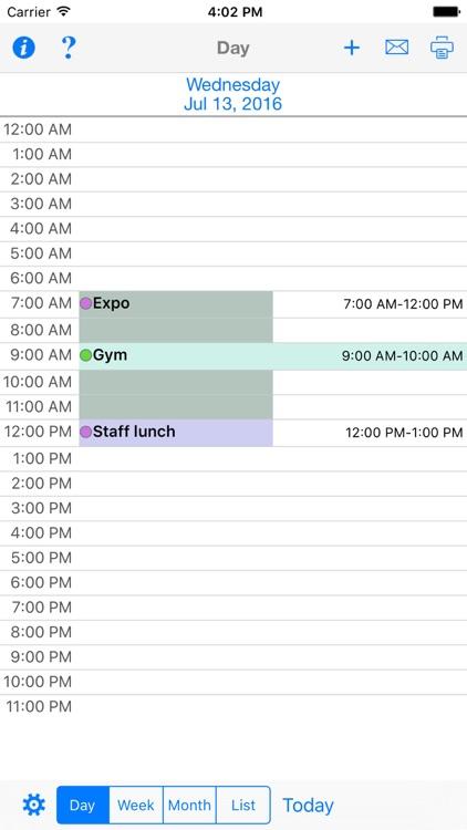 CalPrint for iPhone Calendar Printing screenshot-4