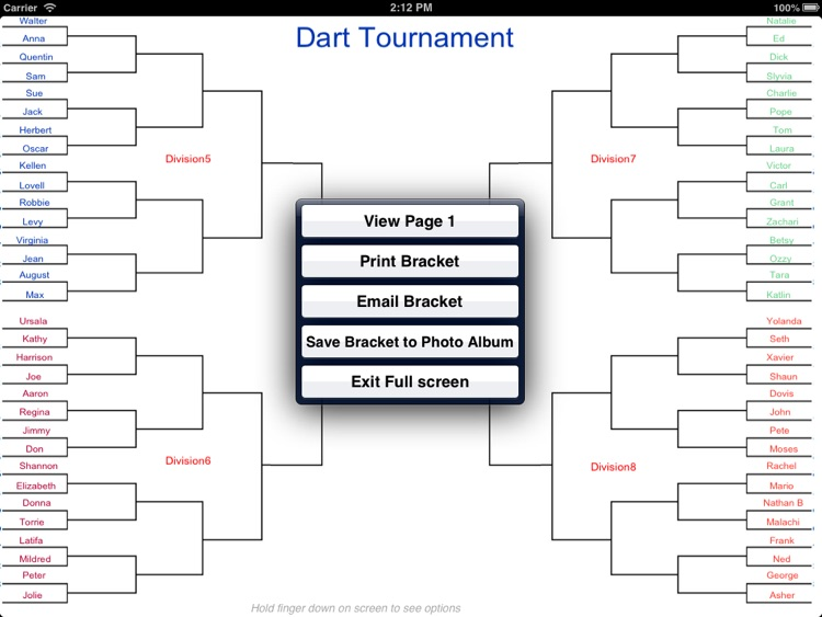 Big Bracket Maker for the iPad