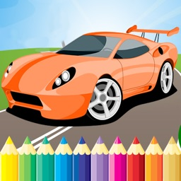 Race Car Coloring Book Super Vehicle drawing game