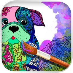 Mandalas Köpek Yetişkinler Için Boyama Sayfaları App Storeda