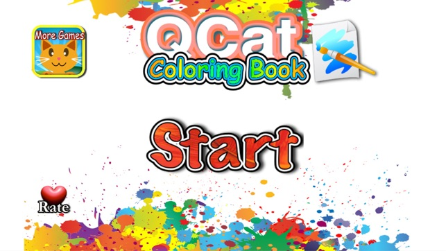 Infant coloring book kids toddler QCat on the App Store