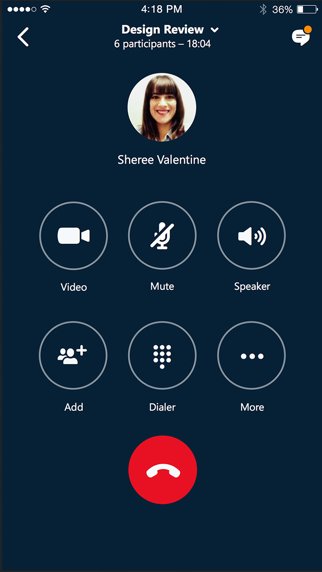 Skype for BusinessScreenshot von 4