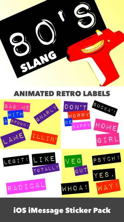 80's Slang: Retro Labeler