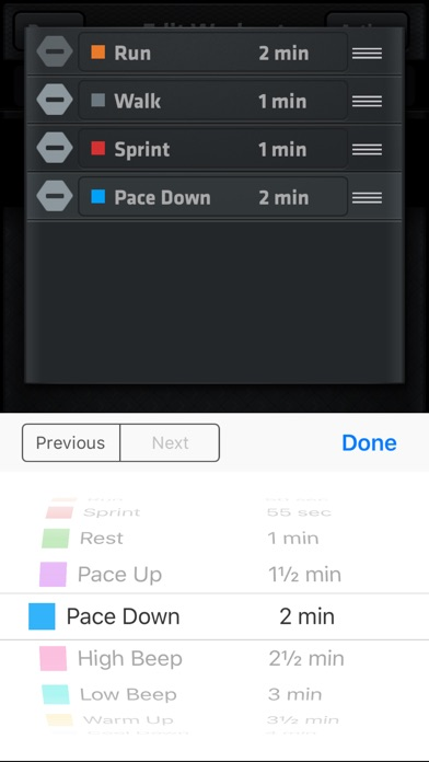 Interval Run screenshot three