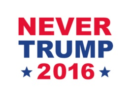 Grab the Trump political movement by the Donald and stop it in its tracks with Never Donald Trump for President Stickers