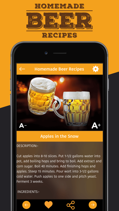 Homemade Beer Recipes screenshot four