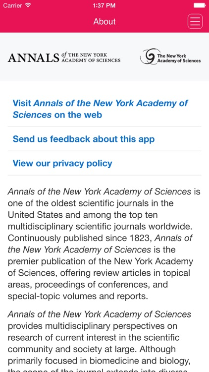 Annals of the New York Academy of Sciences screenshot-4