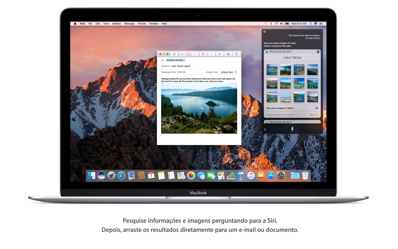 Screenshot do app macOS Sierra