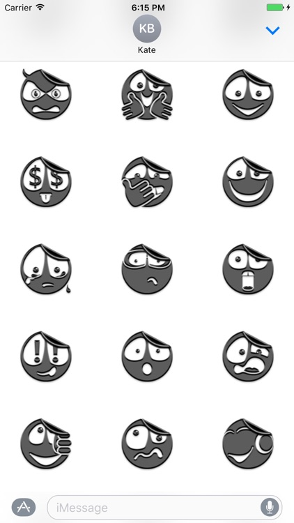 Grey Smileys Stickers