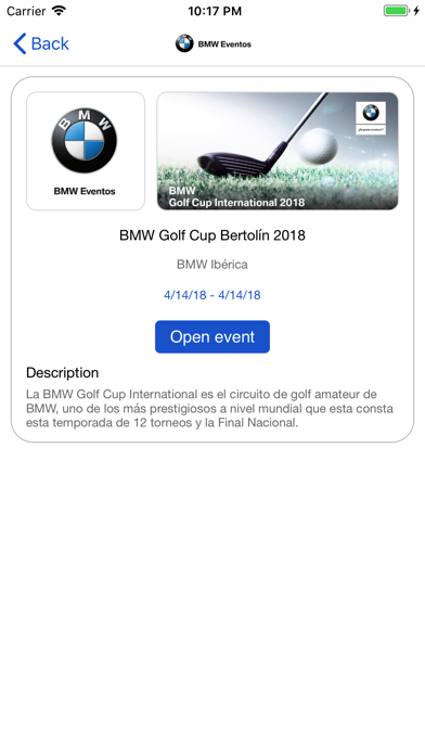 BMW Spain Events | App Price Drops