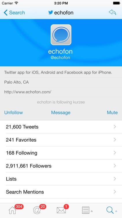 Echofon for Twitter screenshot-3
