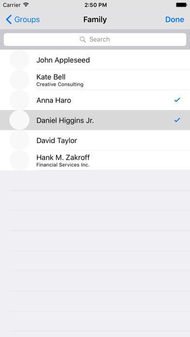 Contact Groups App Screenshots