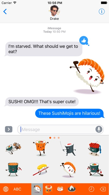 SushiMoji - Yummy Sushi Emoji Keyboard & Stickers