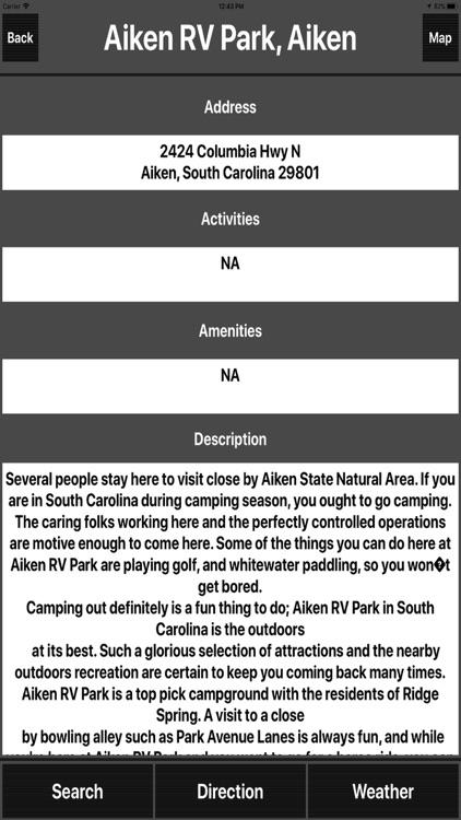 South Carolina Camping Spots