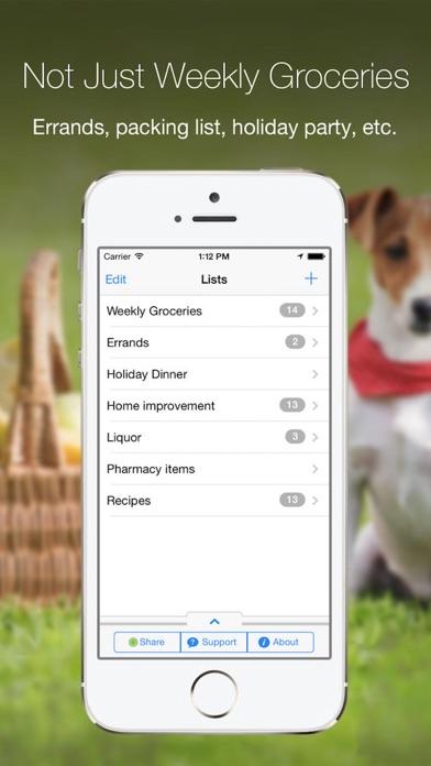 Grocery Gadget - Shopping List Screenshot 2