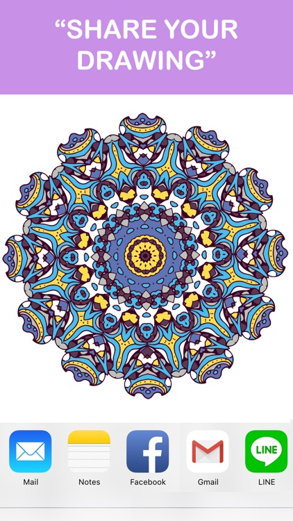 Mandala Coloring Books - Colors Therapy Free Stress Relieving Pages And Share For Adults screenshot-3