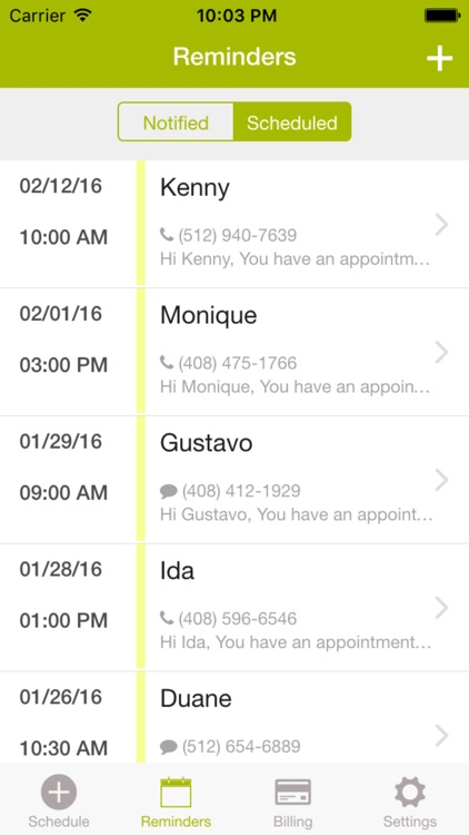 Zenefic - SMS & Voice Call Reminders and Appointment Scheduling App screenshot-3