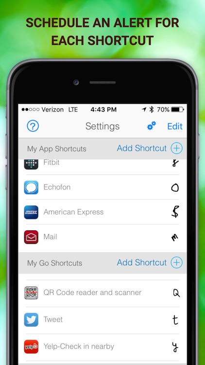 LaunchCode Shortcut with Notification Center & 3D Touch screenshot-4