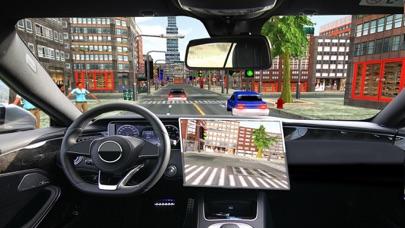 高級リムジンタクシーの都市車の駆動3Dのおすすめ画像1