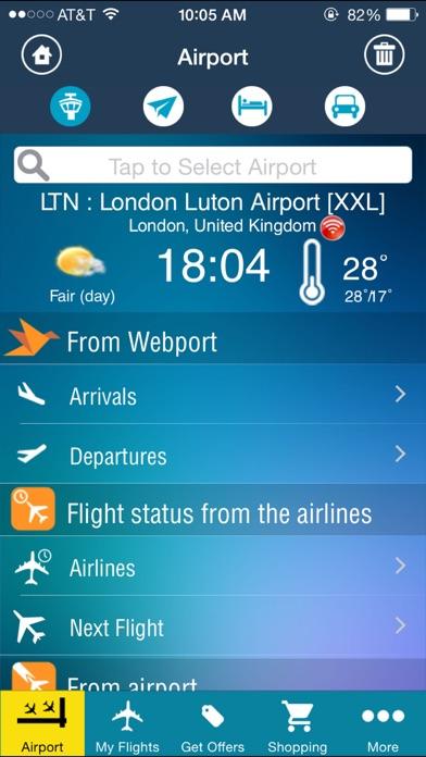 אפליקציית Luton Airport + Flight Tracker London LTN easyJet Ryanair