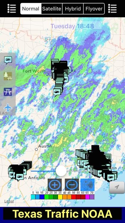 Texas NOAA Radar with Traffic Cameras 3D