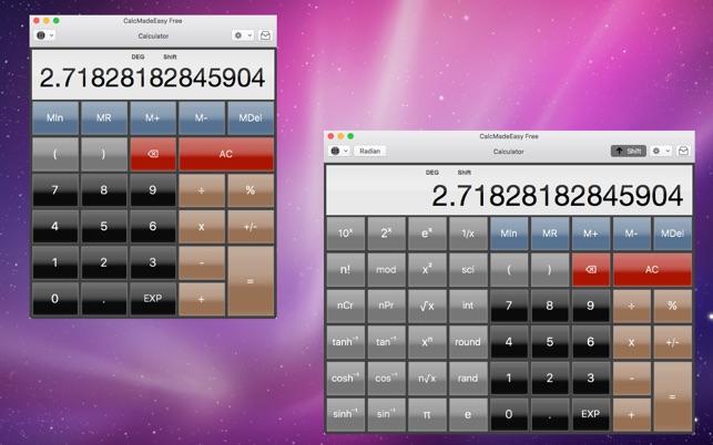 Calcmadeeasy free scientific calculator + auto notes on the mac.