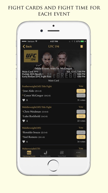 Fite Time - MMA Schedules, Results, And News