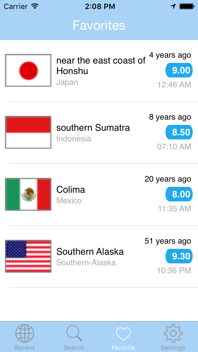 Earthquake PRO - Alert & Search USGS Data Editionのおすすめ画像4