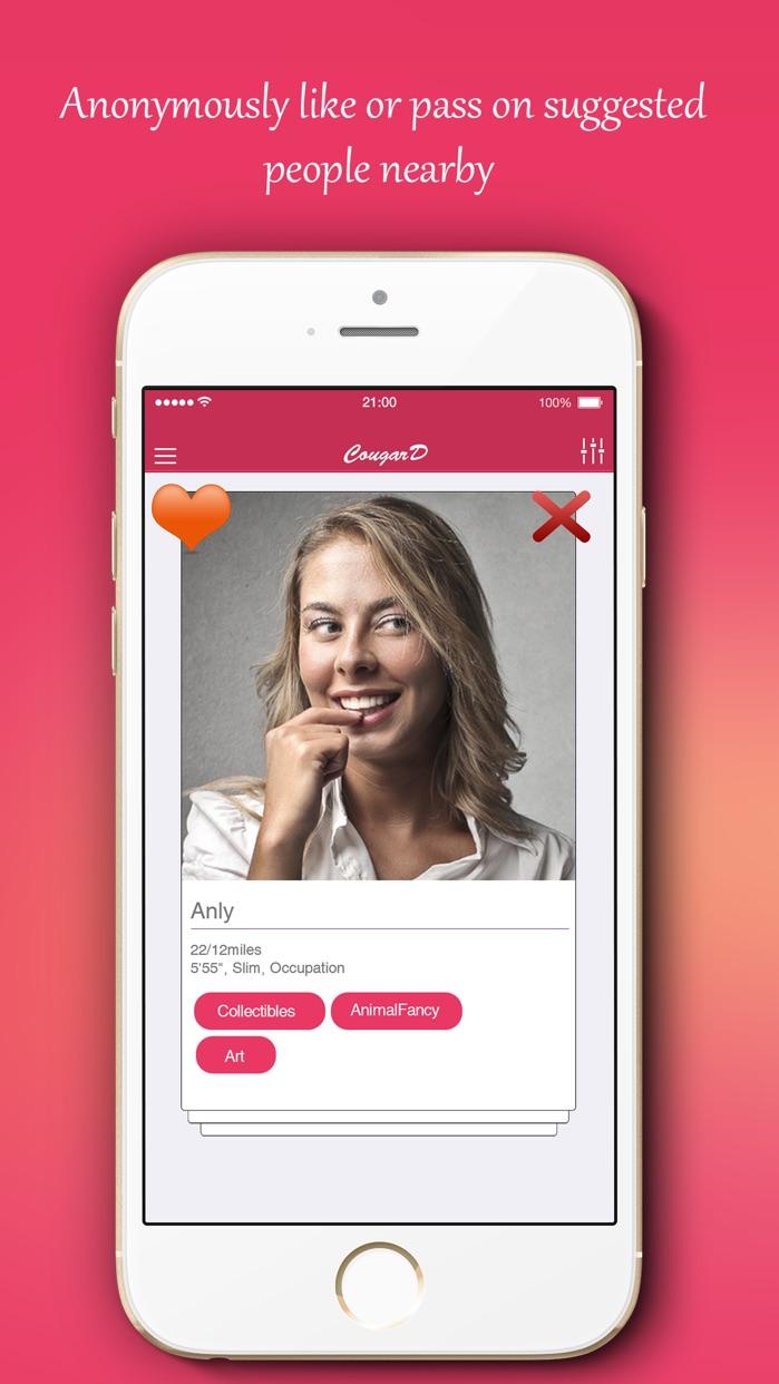 CougarD - #1 Cougar Dating App Screenshot
