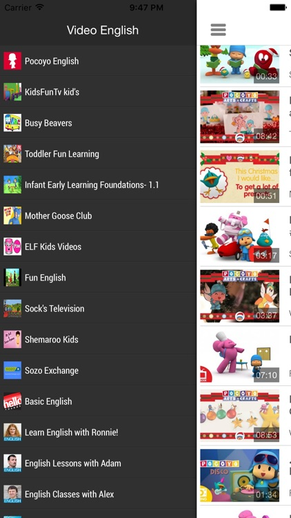 Videos to learn English for kids