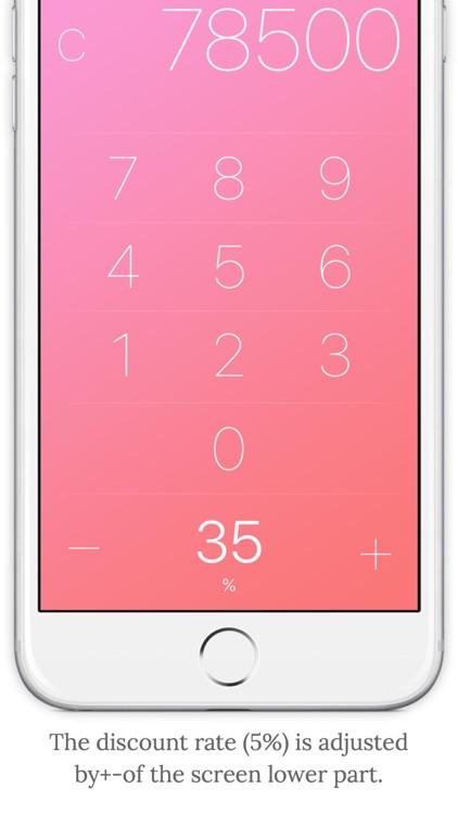 discount sale price calculator pink by kskt llc