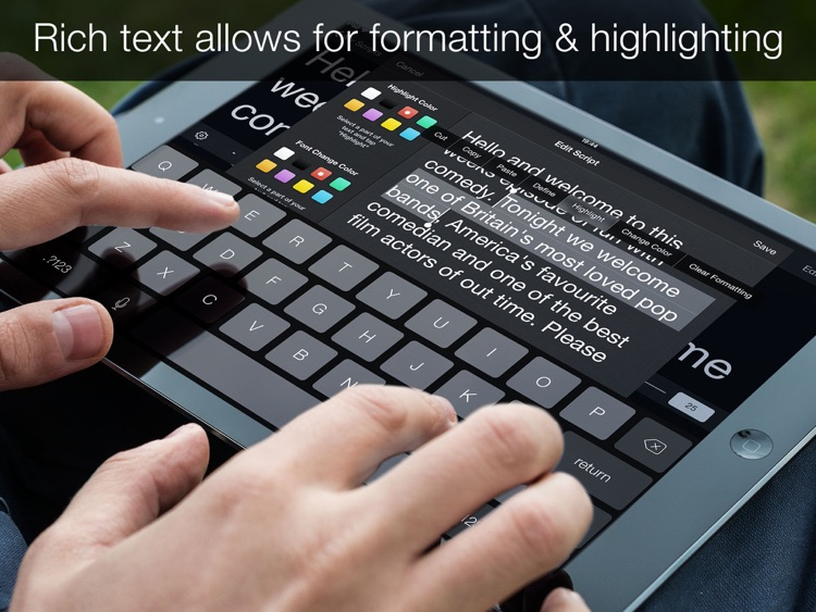 Teleprompter Pro - Scripts, Lyrics & Speech Mirror Prompter screenshot-3