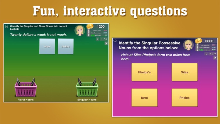 Grade 2 ELA - English Grammar Learning Quiz Game by ClassK12 [Lite]