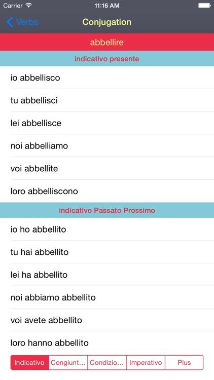 italian verbs conjugator