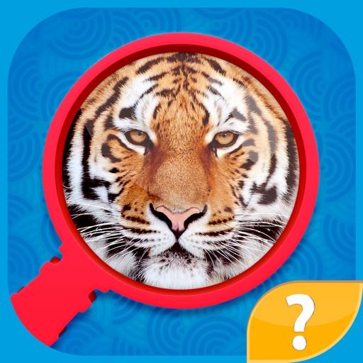 Zoom Pics - игра в угадай слова, попробуй угадать увеличенные картинки и фото и найти слово по буквам