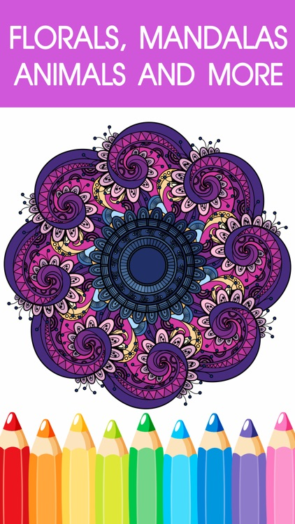 Mandala Coloring Book - Adult Colors Therapy Free Stress Relieving Pages Free screenshot-3