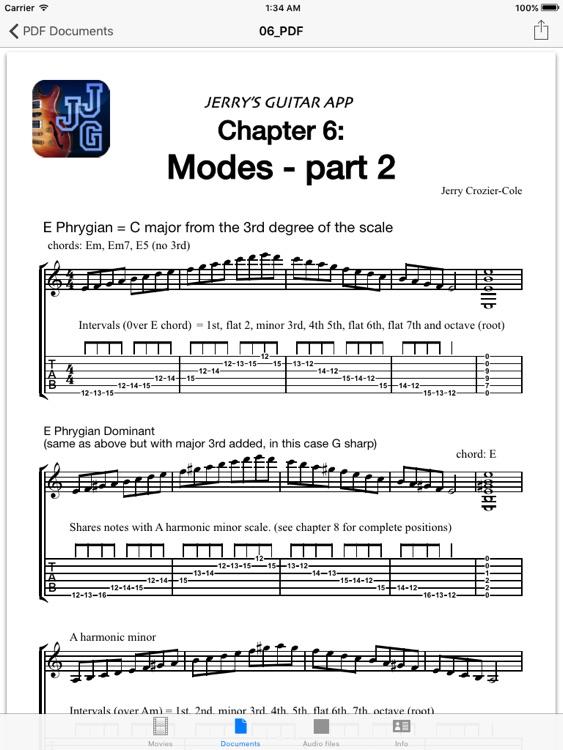 Jerry's Jazz Guitar iPad Edition