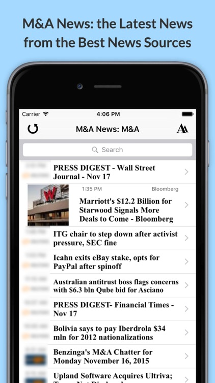 M&A News: Latest Mergers, Acquisitions & Takeovers News screenshot-0