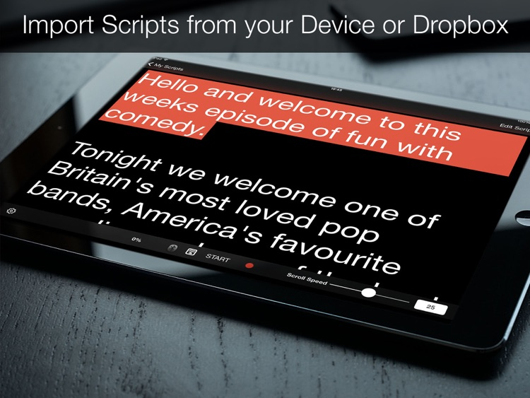 Teleprompter Pro - Scripts, Lyrics & Speech Mirror Prompter screenshot-1
