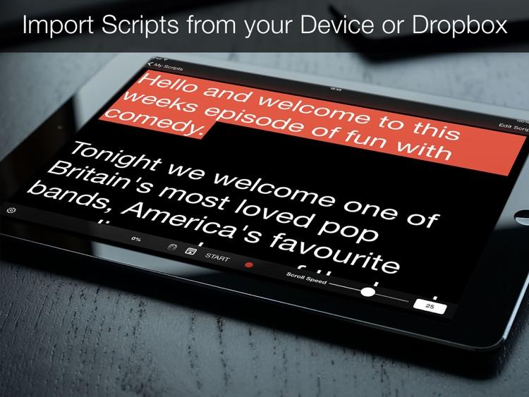 Teleprompter Pro - Scripts, Lyrics & Speech Mirror Prompter