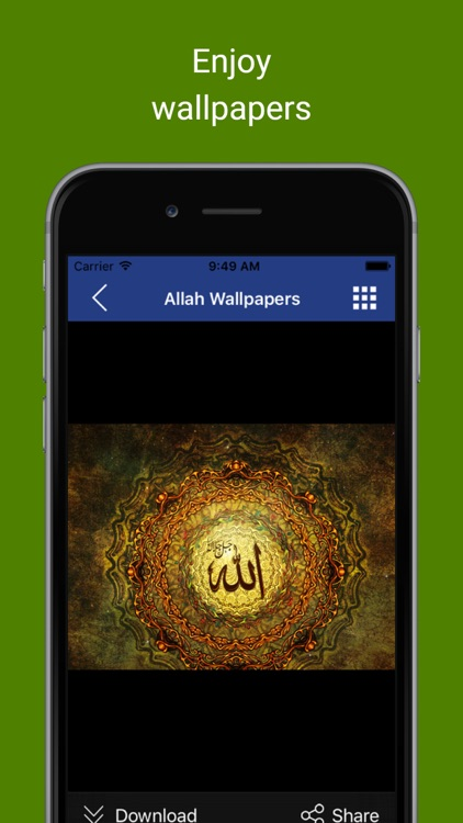 Islamic & Muslim Wallpapers : Backgrounds and pictures of Allahu artwork, mosques posters & Eid Mubarak greeting cards screenshot-4